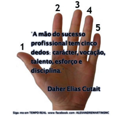 A mão do sucesso...