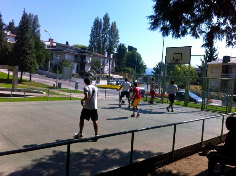 Visualização de 3 contra 3 Basket rua